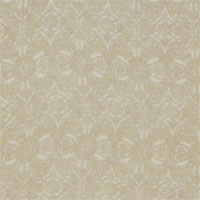 "Printed Crepe De Chine, 14mm,  45"" - (1121-5) Lace  - Tan on Natural"