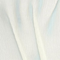 "Crinkle Crepe, 16.5mm, 45"" - (000) Natural White"
