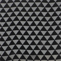 "Burnout Velvet, 45"", Triangles - (154) Black"