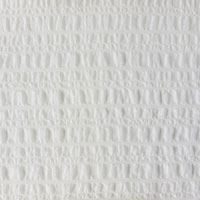 "Lycra Bubble Gauze, 49"" - (000) Natural White"