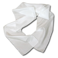 "Habotai Scarf, 8 x 72"", 8mm, Natural White, Machine Hemmed"
