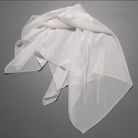 Crepe Scarf, 35 X 35, 14mm, White