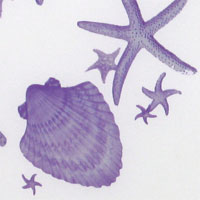 "Printed Charmeuse, 16mm, 45"" - (1203-2) Starfish-Lavender"