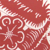 "Printed Charmeuse, 16mm, 45"" - (1415-4) Hawaiian Leaves, Pink on White"