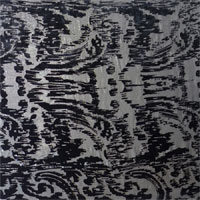 "Lurex Cut Velvet, 54"" - (1811-1) Black / Silver"