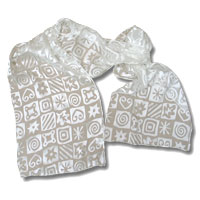 Burn Out Satin Scarf, 15 X 72, White, Whimsical Square
