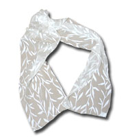 Burn out Satin Scarf - Thin Leaves 14X72""