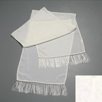 "Velvet Scarf, 14  X 72, Solid with 3"" Fringe - (000) White"