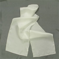 10MM Twill Scarf, Natural White 14X72""