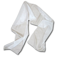 "Paj Scarf, 14"" x 72"", 5mm, Natural White"