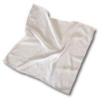 "Flat Crepe Scarf, 26X26"" 10MM, Natural White"